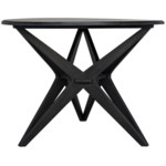 Victor Dining Table, Charcoal Black