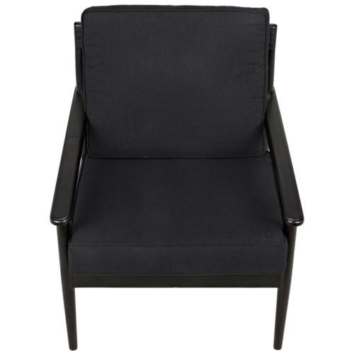Corinth Armchair, Charcoal Black