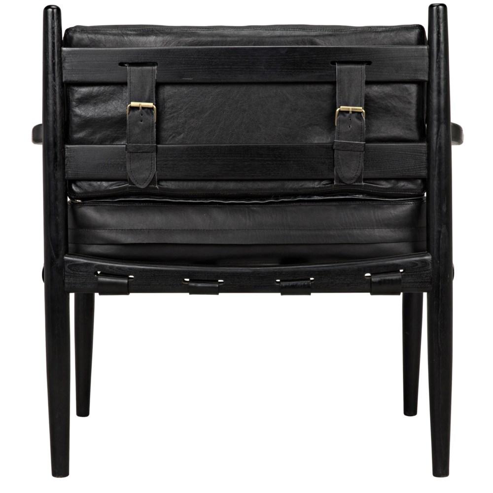Fogel Lounge Chair, Charcoal Black