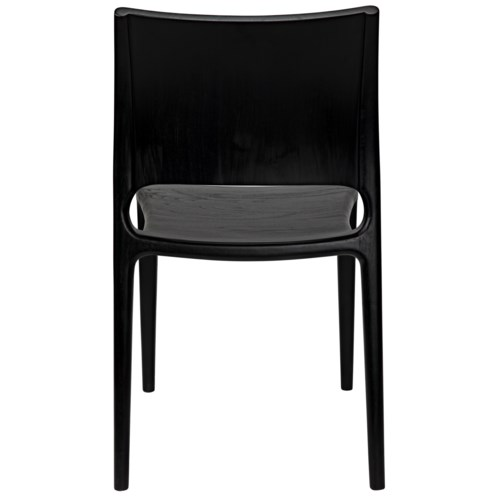 Suzu Chair, Charcoal Black