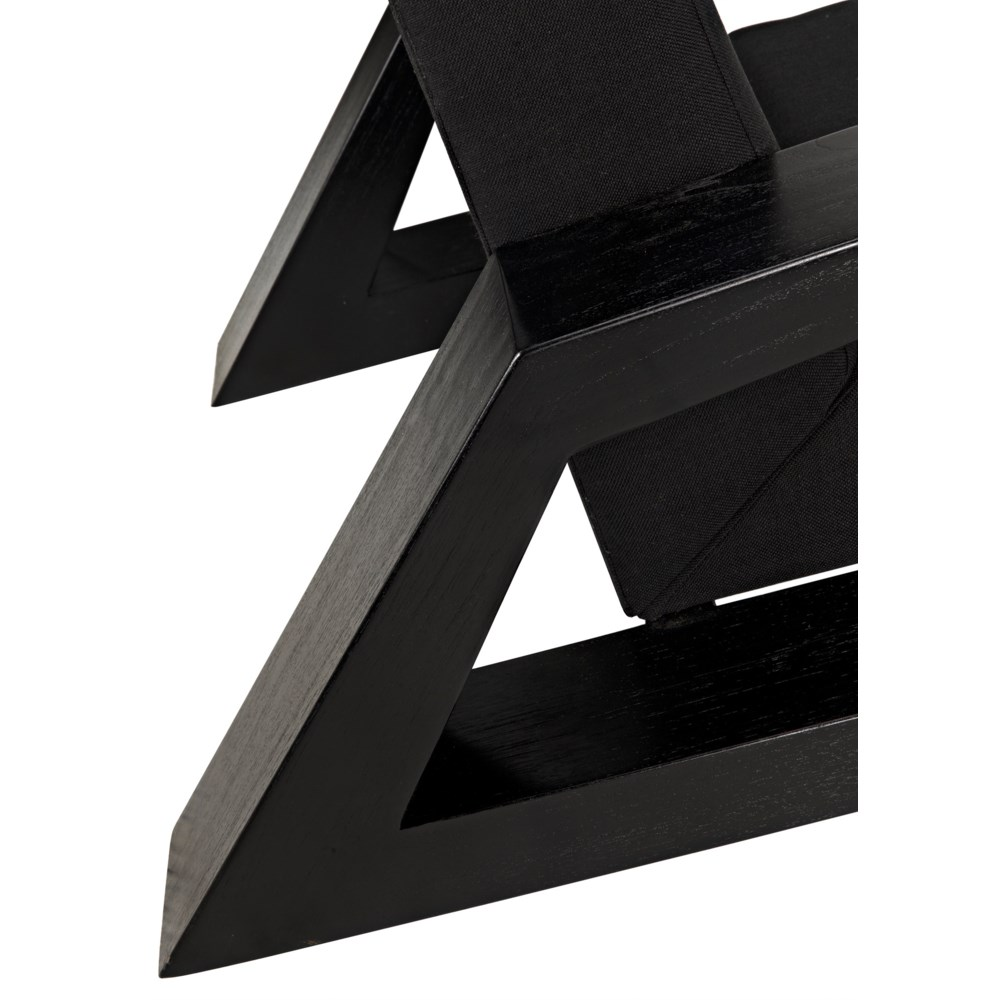 Nero Chair, Charcoal Black