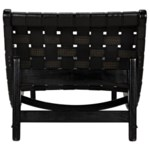 Corado Lounge Chair with Leather, Black