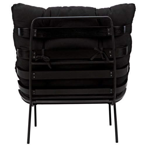 Hanzo Chair w/Metal Legs, Charcoal Black