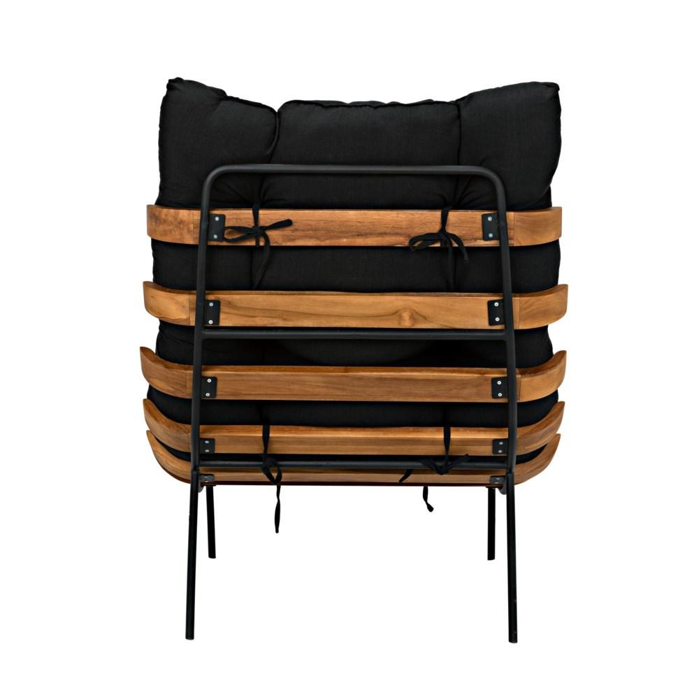Hanzo Chair with Steel Legs, Teak