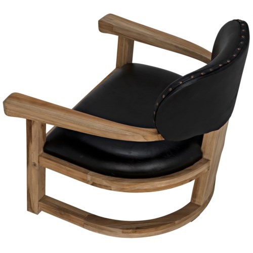 Kamaria Chair, Teak and Leather
