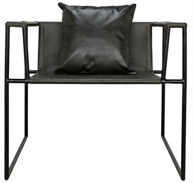 Reinhold Chair with Leather, Iron