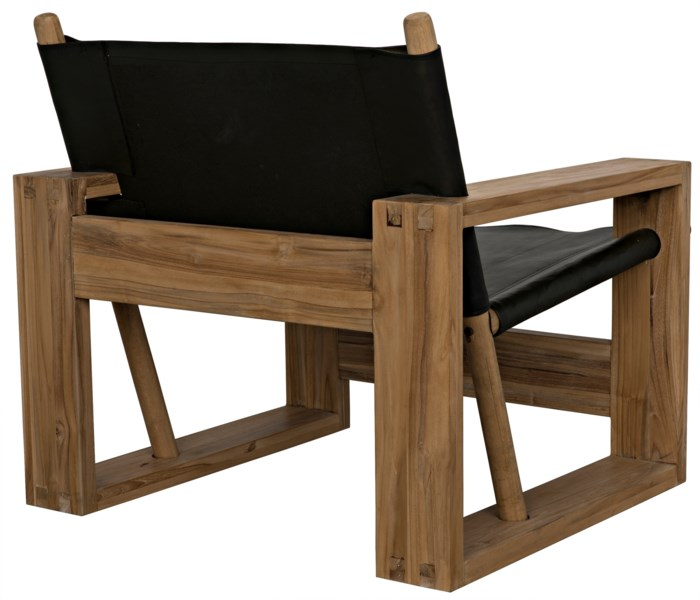 Agamemnon Chair, Teak and Leather