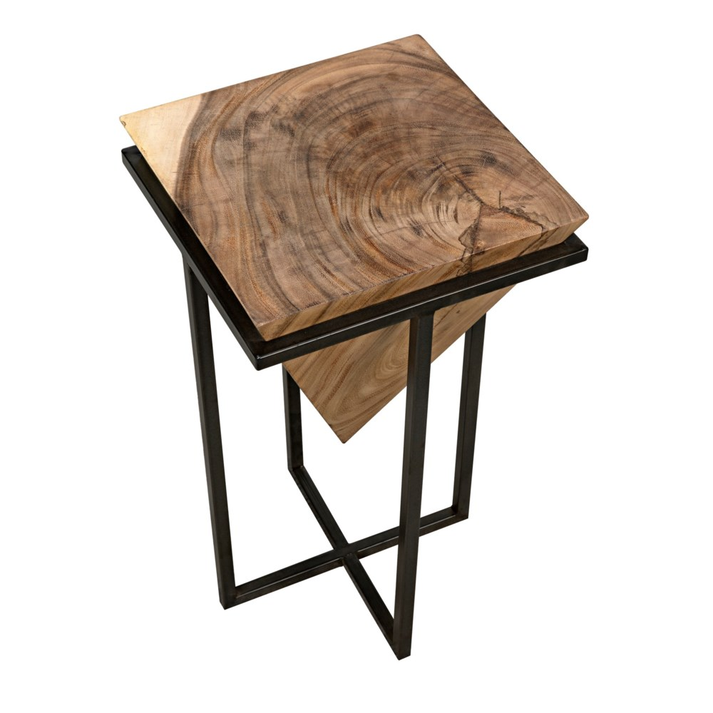 Full Clip Square, Munggur Wood with Iron Base