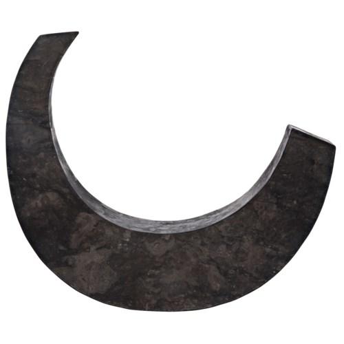 Z Wedge Sculpture, Black Marble