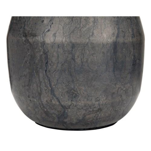 Figaro Lamp w/Black Shade, Black Stone