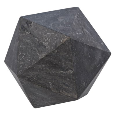 Polyhedron Object, Large, Black Marble