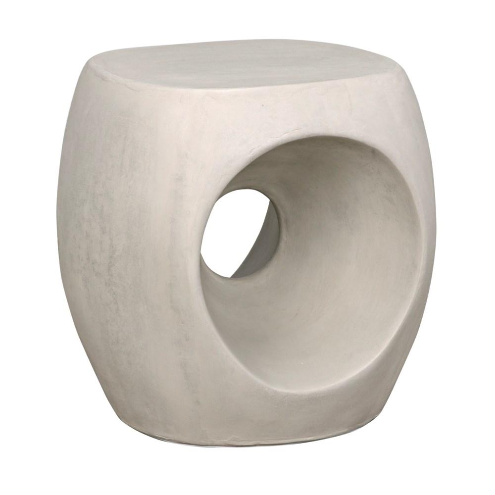 Trou Side Table/Stool, Fiber Cement