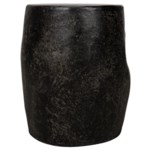 Head Side Table, Black Fiber Cement
