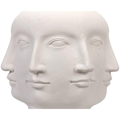 Multi-Face Stool, White Fiber Cement