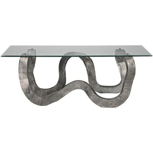 Senza Table, Aluminum/Glass