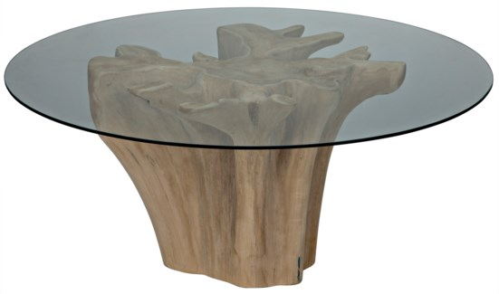 Bonsai Dining Table w/Glass Top