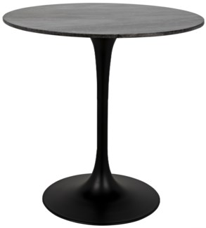 "Laredo Bar Table 40"", Black Stone Top"