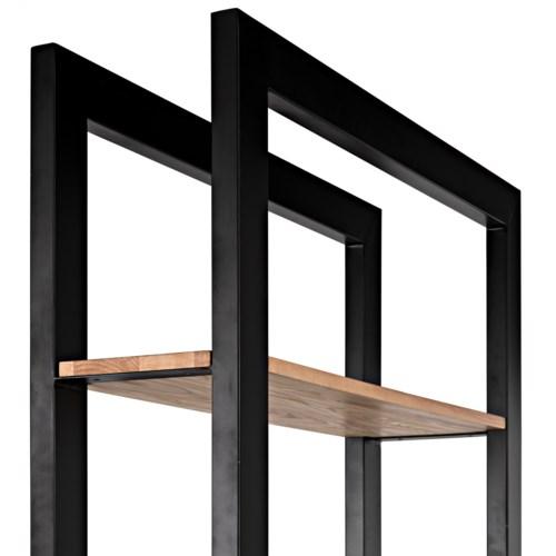Winston Bookcase, Black Metal