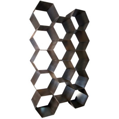 Bee Hive Bookcase, Black Metal