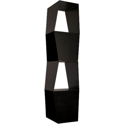 Not-Square Bookcase, Black Metal