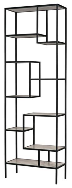Haru Bookcase, XL, Metal and Quartz