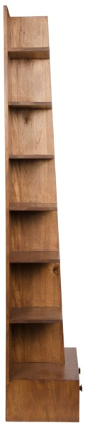 Zip Bookcase, Dark Walnut