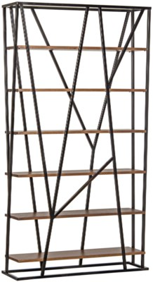 Pole Bookcase, Walnut and Metal