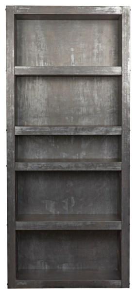 Halo Bookcase, Plain Zinc