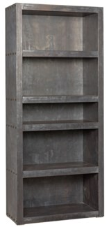 Halo Bookcase, Plain Zinc
