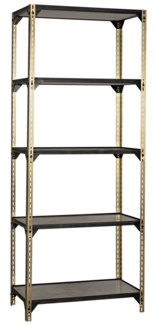 Dario Bookcase, Antique Brass