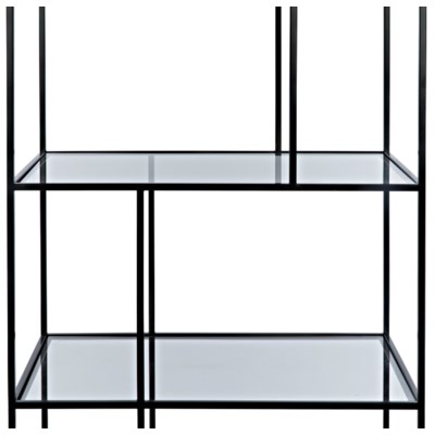 Tulou Shelves, Small, Black Metal