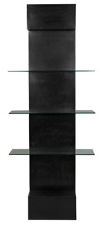 Colombo Shelving, Metal W/Glass