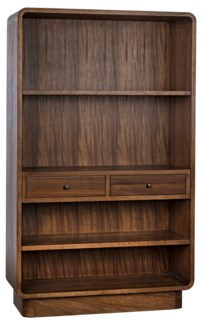 Cortes Bookcase, Dark Walnut