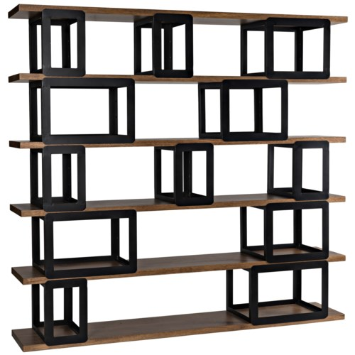 Fargo Bookcase, Dark Walnut/ Metal