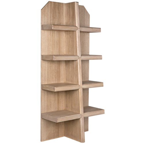 Pearce Bookcase, Washed Walnut