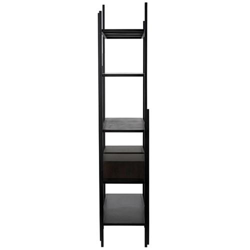Lenox Bookcase, Black Metal w/EB