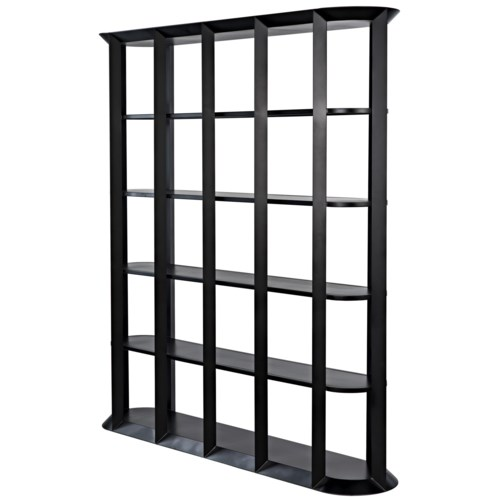 Foster Bookcase, Black Metal