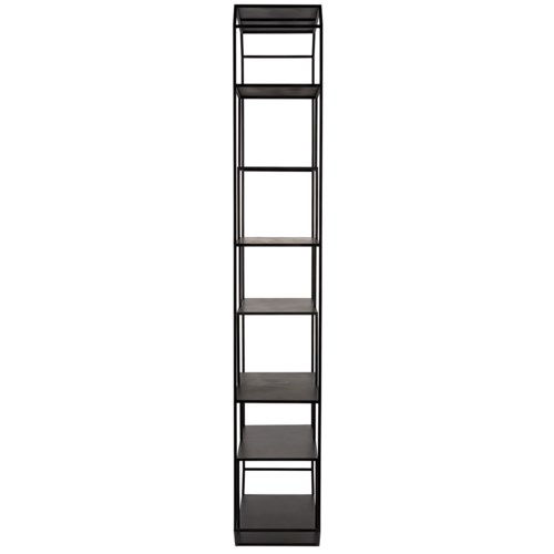 Marquise Bookcase, Black Metal
