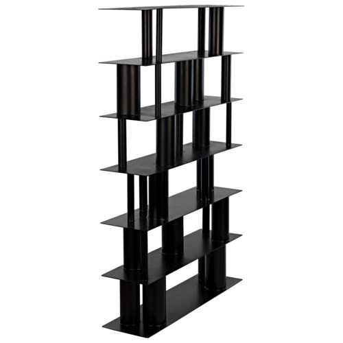 Beck Bookcase, Black Metal