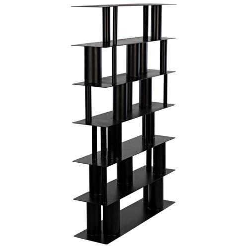 Beck Bookcase, Black Metal
