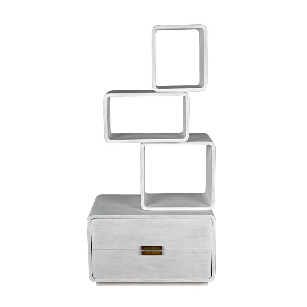Belini Bookcase, White Wash