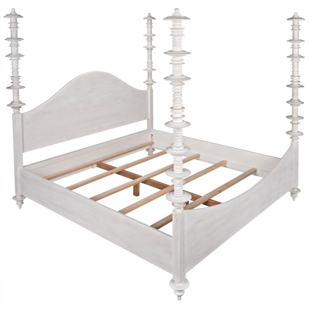 Ferret Bed, Eastern King, White Wash