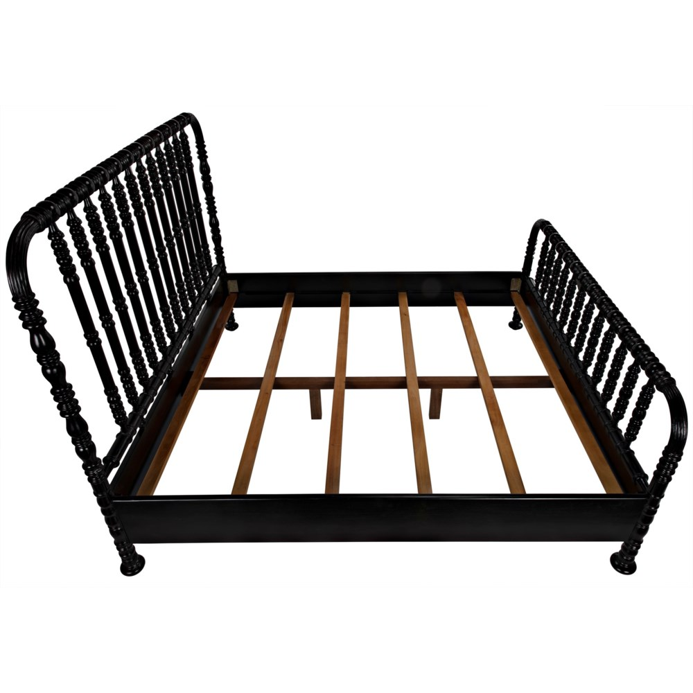 Bachelor Bed, Eastern King, Hand Rubbed Black