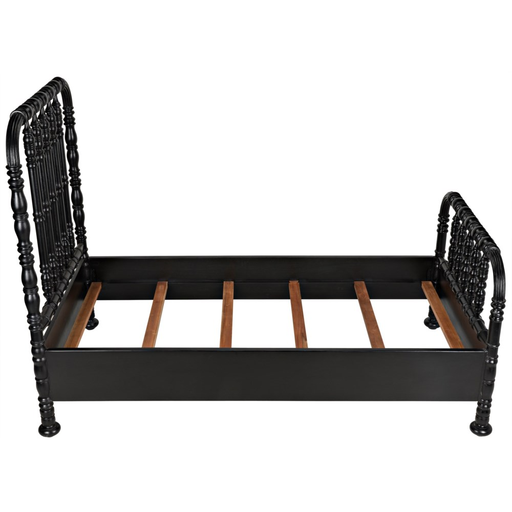 Bachelor Bed, Twin, Hand Rubbed Black