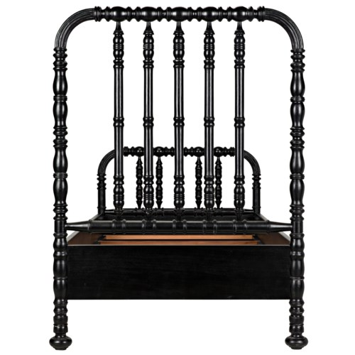 Bachelor Bed Extra Large Twin, H.Black