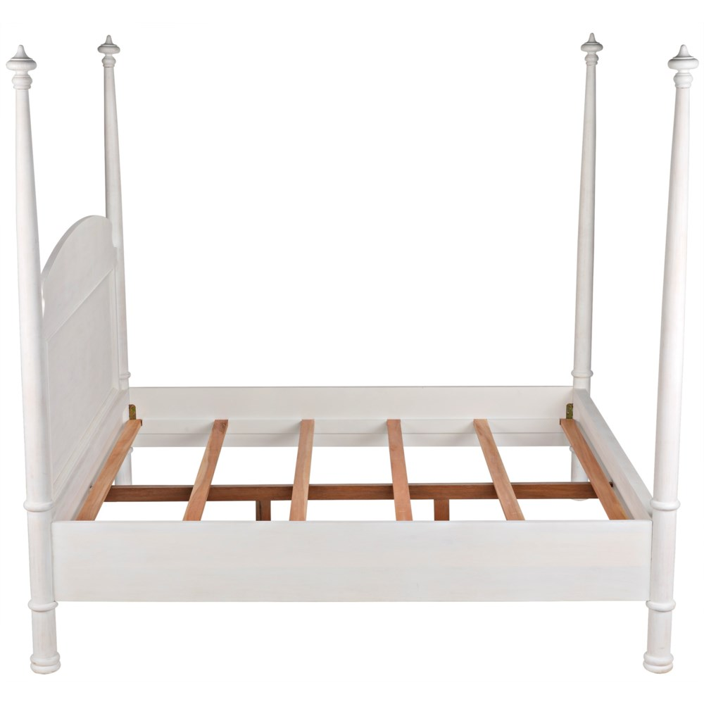 New Douglas Bed, Eastern King, White Washed