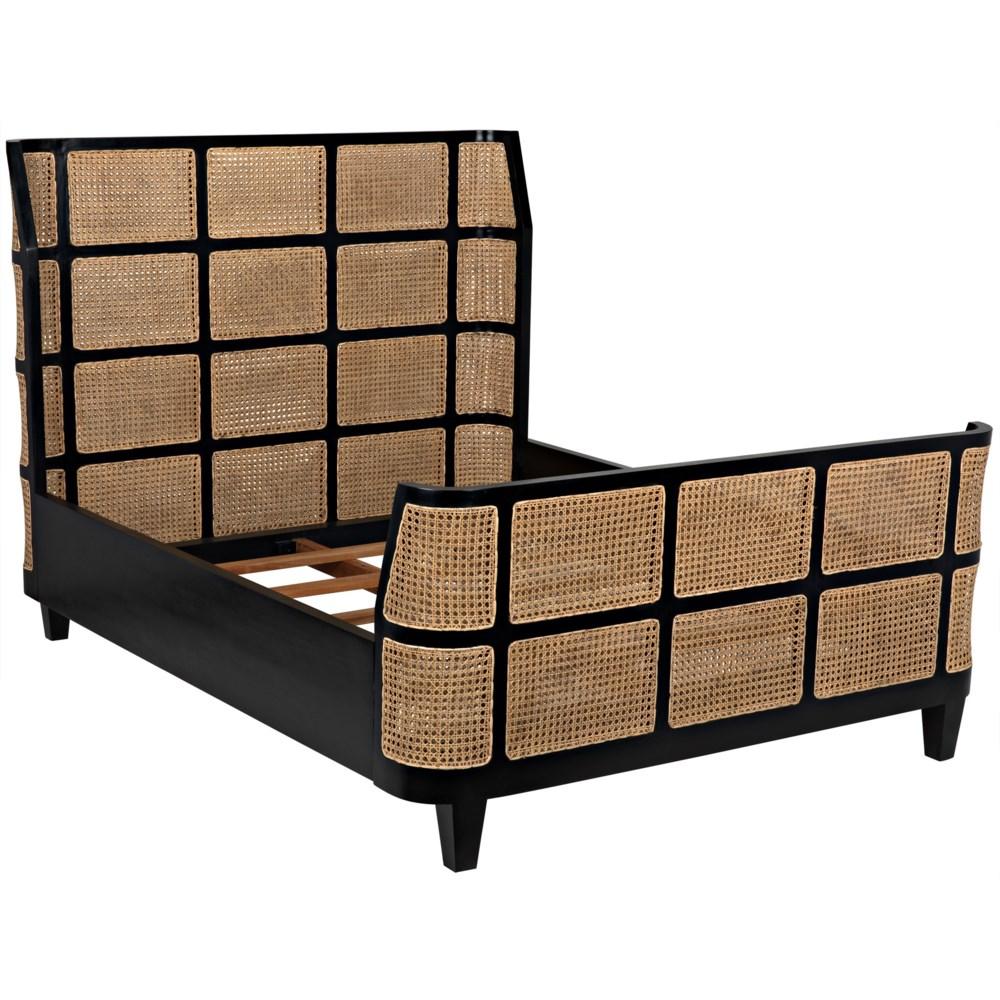 Porto Bed, Queen, Hand Rubbed Black