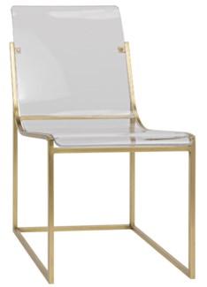 Pascoe Chair, Metal Antique Brass