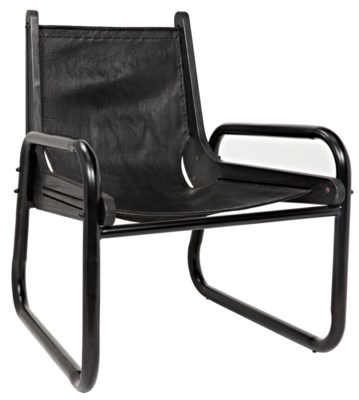 Melvin Chair, Metal with Leather