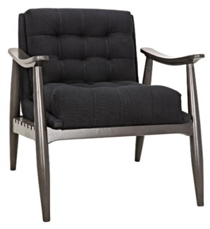 Lazaros Chair, Pale and Black Cotton